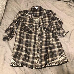 Xhilaration Medium Sheer Flannel